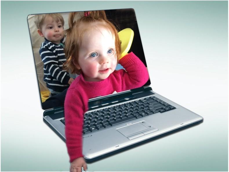 linde en finnian in laptop